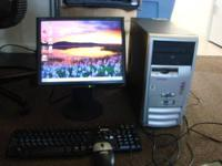 Compaq and Hp Desktops for sale and an Acer netbook.