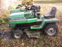"1 good running tractor W/ 48"" single stage snow blower"