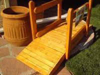 All wood, sturdy and durable. 8 ft. by 3 ft. $250. 5