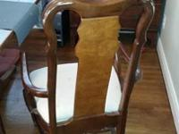 2 dining room chairs. Very comfortable to sit on. The