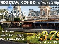 2 Disney Tickets with resort 4 day & 3night Condo