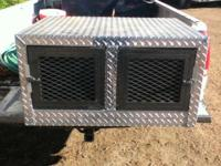 Aluminum kennel Dimensions - 30wide x 20 high x 29