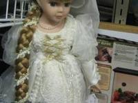 The Renaissance looking doll has proclien face,