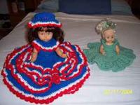 2-dolls with unique crocheted dresses corryton area