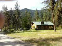Log home on nearly 3 acres, near St. Regis, MT.