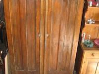 Primitive Blind Cabinet with Paneled Doors & Sides.
