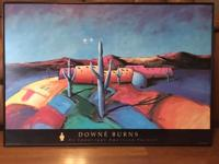 "Two framed Downe Burns prints for sale! ""Santa Fe"