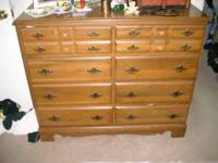 2 dresser both wood 1 is 8 drawer and 1 is 6 drawer