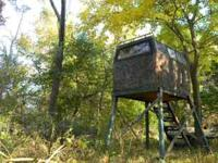 Enclosed deer stands for sale: 1st stand is 5'x 8' with