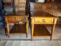 2 End Tables,solid wood,very nice and clean,in