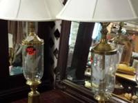 Awesome etched glass lamps. Etched with stars and