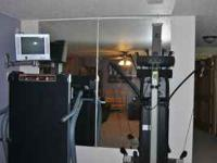 **2 Extra Large Mirrors** Each mirror measures 3 feet
