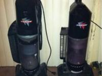 2 fantom upright vacuums 1 is a thunder bagless with 12