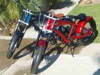 2 BEAUTIFUL MINT FAT BOY CHOPPER CRUISER BIKES BY