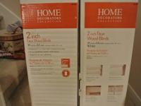 "We have 2 boxes of 2"" faux white blinds. The original"