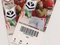 2 tickets for the Wisconsin/Brigham Young game on Nov.