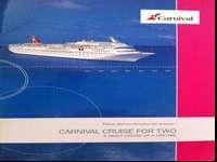 Voucher for Carnival cruise for two - 4 nights. Three