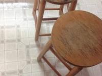 2 ft Solid Wood Stools