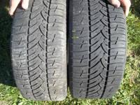 HAVE FOR SALE TWO TIRES OFF OF A PONTIAC GRAND AM THAT