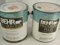 2 Gallons Behr Premium Plus Interior Satin Enamel Paint