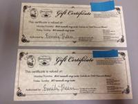 We were just given two of these certificates for
