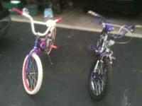 2 girls bikes little rough kids have out grown. Price