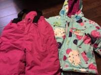 Size 2 girls two-piece snowsuit and size 2 girls