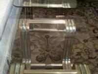 Need cheap furniture? 2 glass top end tables. Bases