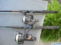 I am selling 2 realy good rod and reel outfits one of