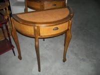2 entry/sofa tables with wicker top & facing. Only $69