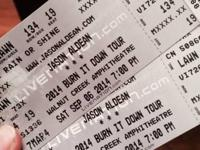 I've got two hard copy lawn tickets to the Jason