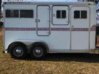 Featherlite bumper pull trailer.Aluminum skin on