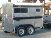 Really nice 2 horse bumper pull trailer. This trailer
