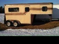 Wide and tall trailer for larger horses. Has had a new