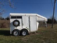 Elk gooseneck 2 horse trailer good condition. Asking