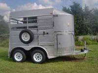 2008 Ponderosa bumper pull 2 horse trailer. 7 ft. tall,