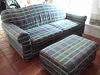 2 identical couches and ottomans in good shape. Very