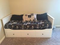 Twin daybed, opens up to a king. Will include two