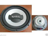 "Two Infinity 1052W 10"" Dual 4 Ohms Reference Series"