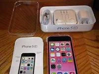2 brand new iPhone 5c a white & a pink both brand new