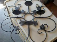 $25 for Both!!  2 Iron Candle Holders Curved one is