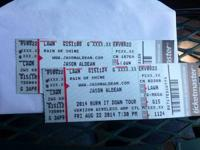 I'm selling 2 lawn tickets for Jason Aldean with