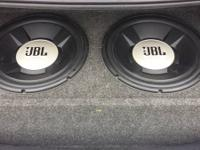 """2 JBL 15"""" Subwoofers in a custom ported Memphis Audio"""