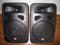 (2) JBL EON G2 400 watt active speakers, with 2 JBL lug
