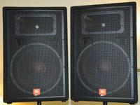 "2 JBL JRX 100's 15"" Speakers. Used two times. Mint"