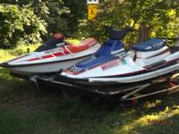 im selling my 2 jet skis and trailer . one is a 1989