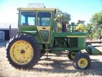 1970 JD 4020, WF, Diesel with JD 158 Loader, Bucket,