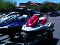 2 Kawasaki Jet Skis w/trailerBoth have really low hours