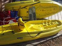 I am offering 2 hardly utilized Kayaks. They are