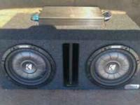 forsale i have 2 10in kicker CVT subs in a box with a
